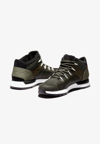 SPRINT TREKKER MID FABRIC WP - Sneakers - dark green mesh