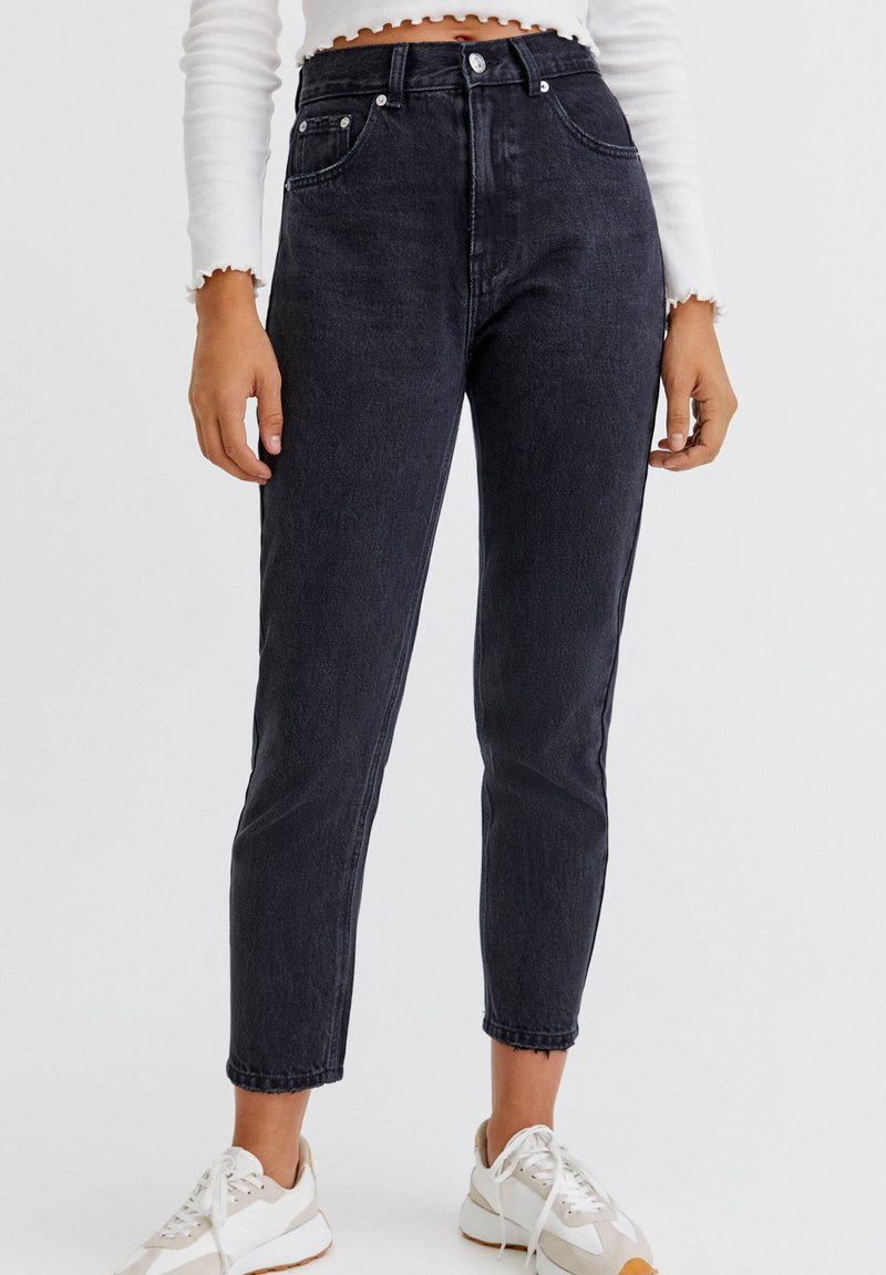 PULL&BEAR - Relaxed fit jeans - mottled black
