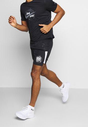 SHORT  - Pantalón corto de deporte - black/white