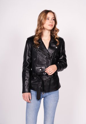 THIS WAY!-FN - Veste en cuir - black