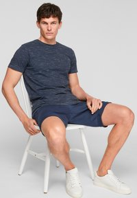 s.Oliver - T-Shirt basic - blue melange - 4