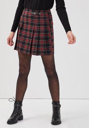 MIT HOHER TAILLEGROSS - A-line skirt - noir