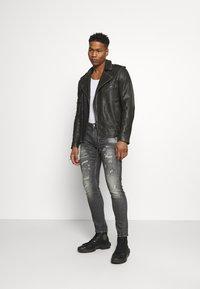 Tigha - NEVAN - Leather jacket - vintage black - 1