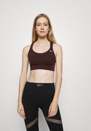 ONPOPAL POWER SPORTS BRA - High support sports bra - fudge