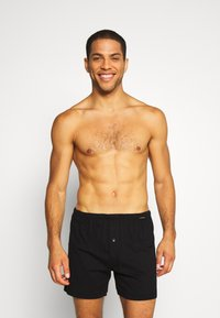 Schiesser - 2 PACK  - Boxer shorts - black/white - 2