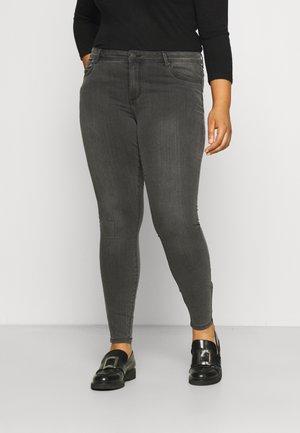 VMTANYA MR PIPING CURVE - Jeans Skinny Fit - dark grey denim