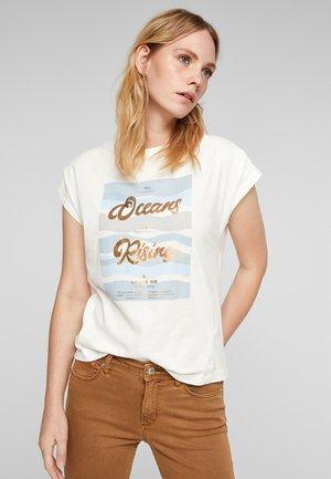 Print T-shirt - offwhite placed print