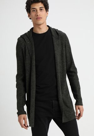 Strickjacke - black/olive