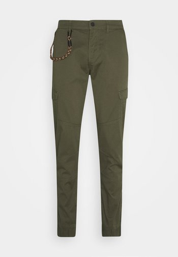 Cargo trousers - woodland green