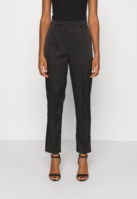 NA-KD - STRAIGHT SUIT PANTS - Trousers - black - 0