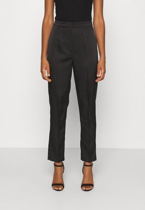 STRAIGHT SUIT PANTS - Tygbyxor - black