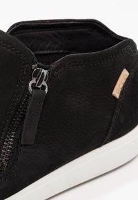 ECCO - SOFT  - Sneakersy niskie - black/powder - 6