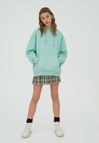 PULL&BEAR - Sweat à capuche - light green - 1