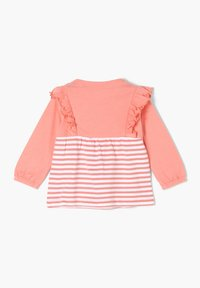 s.Oliver - MET RUCHES - Long sleeved top - light pink stripes - 1