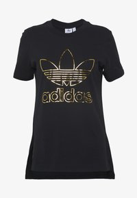 adidas Originals - TEE - T-shirt z nadrukiem - black - 4