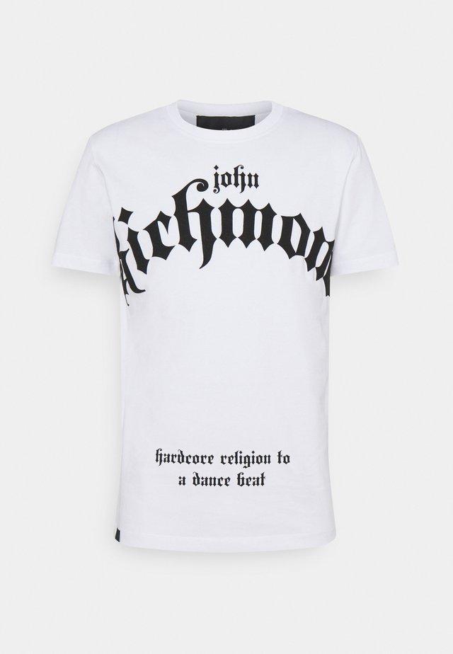 FONDULAC - T-shirt med print - white