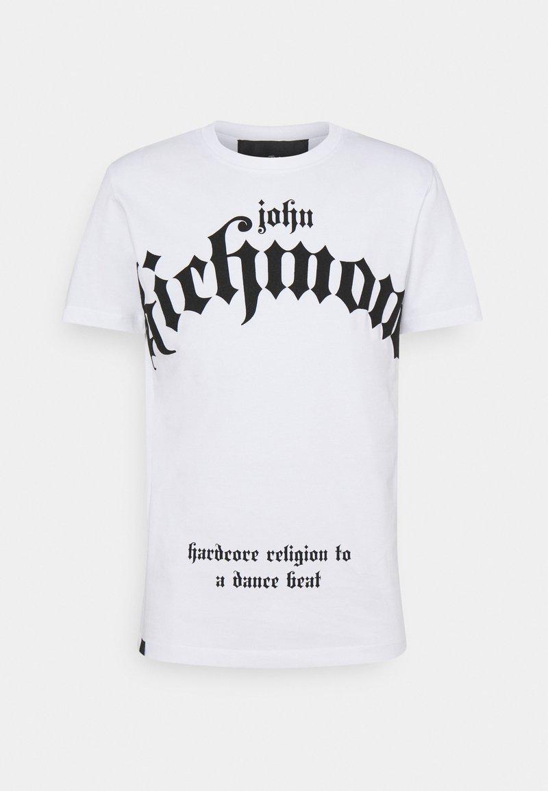 John Richmond - FONDULAC - Triko spotiskem - white