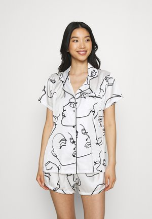 LEON  - Pyjamas - white/black