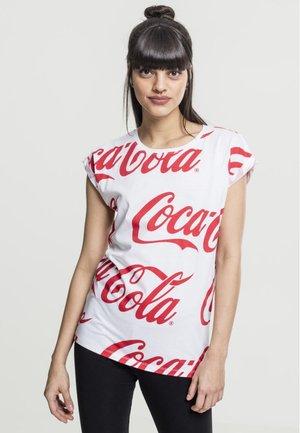 COCA COLA  - Print T-shirt - white