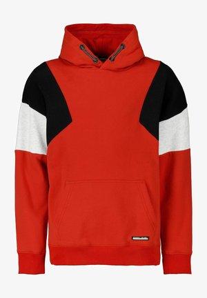 BLOCK HOODIE - Sweatshirt - carmine