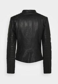 Diesel - L-IGE-NEW-A - Leather jacket - black - 8