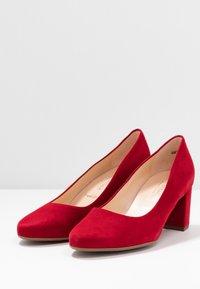 Peter Kaiser Wide Fit - WIDE FIT WINA - Classic heels - lipstick - 4