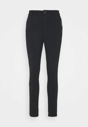 ZIP DETAIL PANTS - Leggings - black