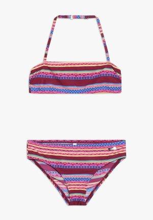 BANDEAU - Bikini - bordeaux