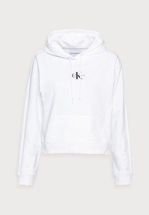CROPPED MONOGRAM HOODIE - Sweatshirt - white