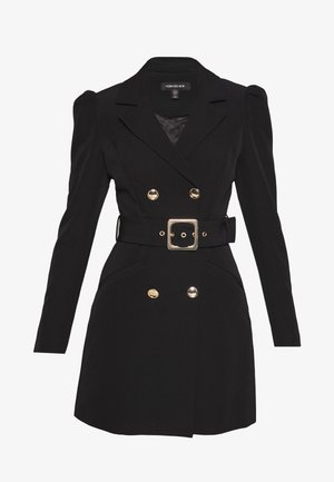 BERNADETTE BELTED BLAZER DRESS - Vestido informal - black