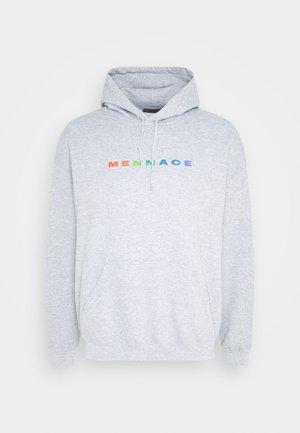 PRIDE RAINBOW BLOCK LOGO HOODIE UNISEX  - Zip-up hoodie - grey