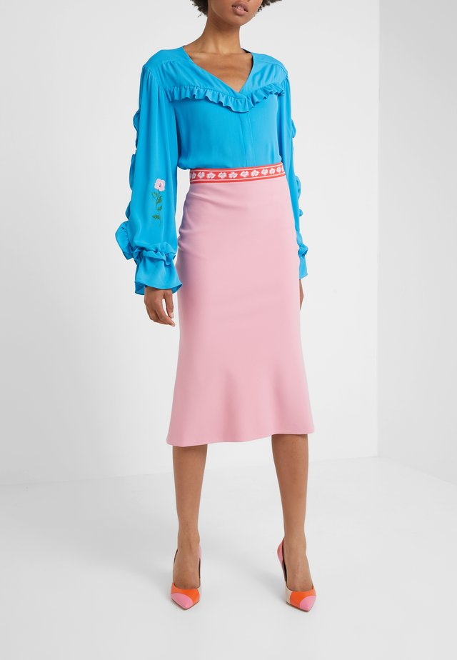 GONNA TESSUTO - A-line skirt - pink