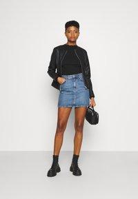 b.young - ACOM JACKET - Faux leather jacket - black - 1