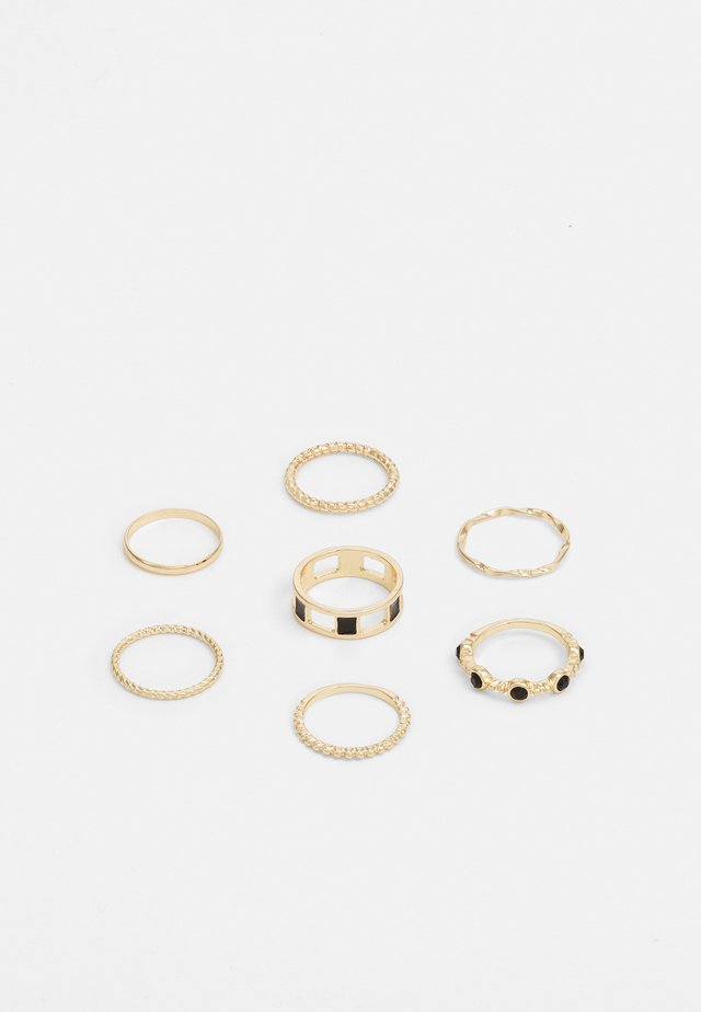 JET STONE 7 PACK - Bague - gold-coloured