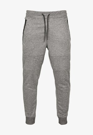 HERREN ZIPPER POCKET MARLED TECH FLEECE JOGGER - Tracksuit bottoms - marled grey