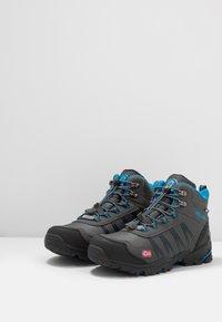 TrollKids - KIDS TROLLTUNGA MID UNISEX - Hiking shoes - anthracite/medium blue - 3