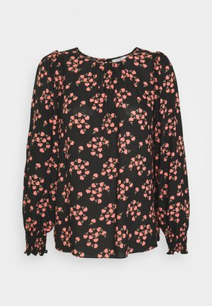 FAN FLORAL - Long sleeved top - black