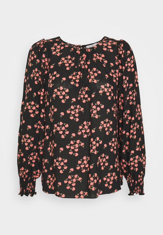 FAN FLORAL - Langarmshirt - black