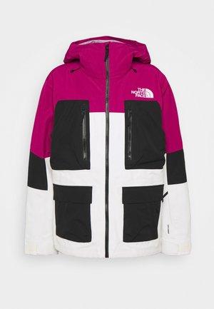 DRAGLINE JACKET - Snowboard jacket - roxbury pink/gardenia white/black