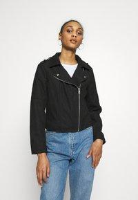 JDY - JDYPEACH BIKER - Faux leather jacket - black - 0