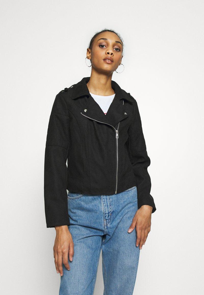 JDY - JDYPEACH BIKER - Faux leather jacket - black