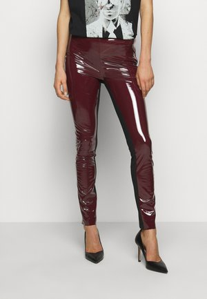 PATENT - Leggings - bordeaux