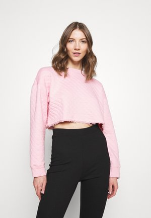 QUILTED CROP REFLECTIVE - Sweatshirt - pink