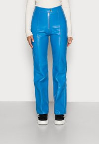 HOSBJERG - DEBBIE PANTS - Leren broek - blue - 0