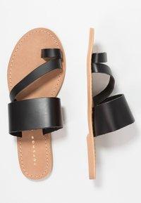 Topshop Wide Fit - WIDE FIT HOPE  - T-bar sandals - black - 3