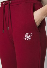 SIKSILK - FLORAL EMBROIDERED JOGGERS - Tracksuit bottoms - burgundy - 3