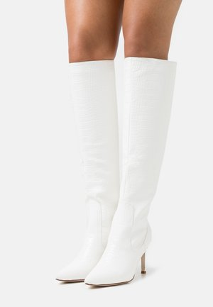 TRIBUTE - High heeled boots - white