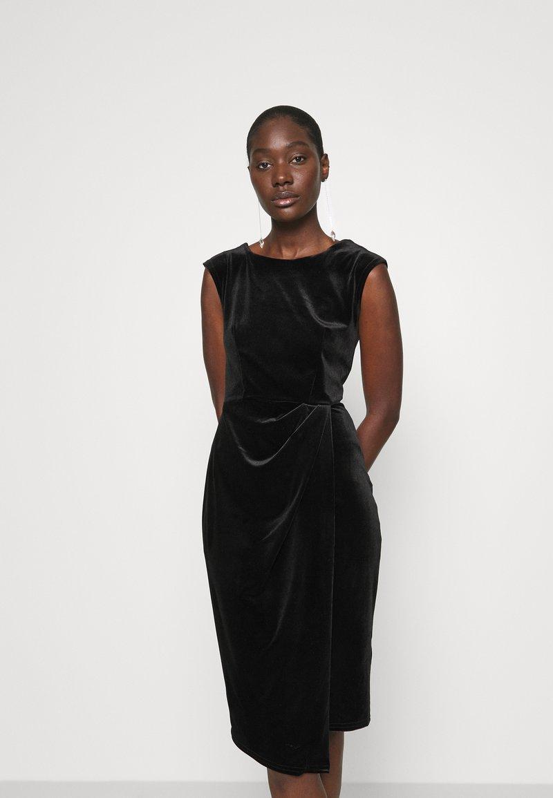 Closet - WRAP OVER DRESS - Shift dress - black