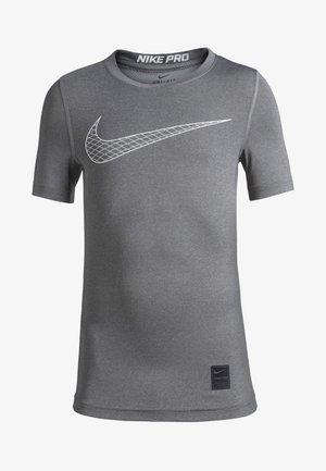 COMP - Print T-shirt - carbon heather/white