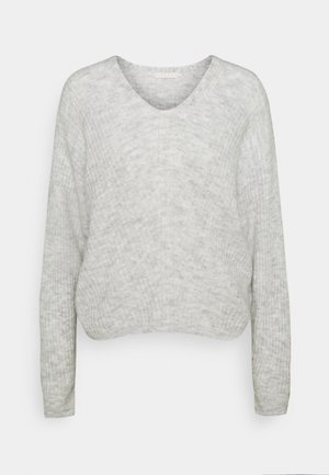 PCSUNNY V NECK - Jumper - light grey melange